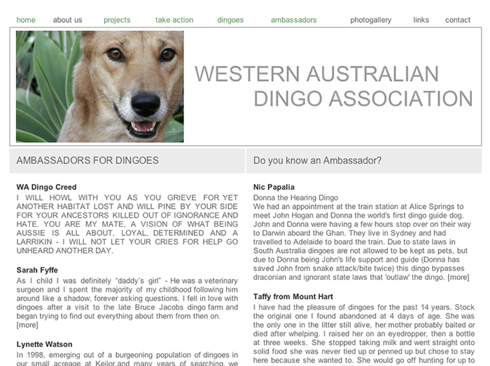 WA Dingo Association
